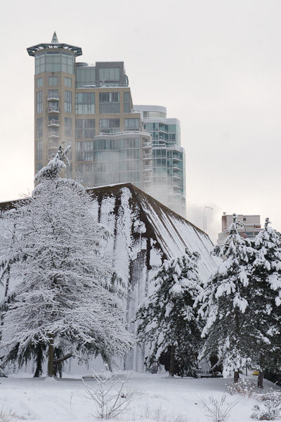 Vancouver in the snow